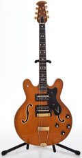 Musical Instruments:Electric Guitars, 1970's Ovation 1233-4 Thunderhead Natural Semi-Hollow Body ElectricGuitar #H540...
