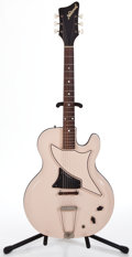 Musical Instruments:Electric Guitars, 1962 National Studio 66 Sand Solid Body Electric Guitar #G4119...