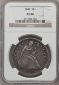 Seated Dollars: , 1846 $1 XF40 NGC. NGC Census: (20/323). PCGS Population (61/361).Mintage: 110,600. Numismedia Wsl. Price for problem free ...