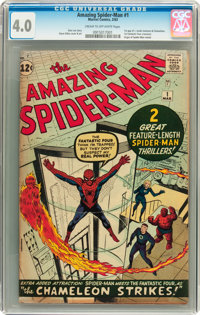 The Amazing Spider-Man #1 (Marvel, 1963) CGC VG 4.0 Cream to off-white pages