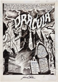 Original Comic Art:Splash Pages, Gene Colan Tomb of Dracula #1 Splash Page 1 Original Art(Marvel, 1972)....