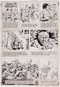 Original Comic Art:Comic Strip Art, John Cullen Murphy and Hal Foster Prince Valiant SundayComic Strip #1977 Original Art dated 12-29-74 (Kin... (Total: 2Items)