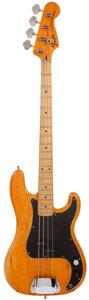 Musical Instruments:Bass Guitars, 1975 Fender Precision Bass Natural Electric Bass Guitar,#541061....