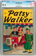 """Golden Age (1938-1955):Humor, Patsy Walker #2 Crippen (""""D"""" Copy) pedigree (Atlas, 1945) CGC VF+ 8.5 Off-white pages...."""