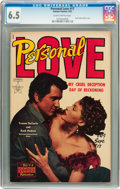 Golden Age (1938-1955):Romance, Personal Love #17 (Famous Funnies, 1952) CGC FN+ 6.5 Slightlybrittle pages....