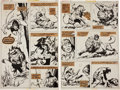 Original Comic Art:Panel Pages, John Buscema Tarzan #1 page 10 and 11 Original Art Group(Marvel, 1977).... (Total: 2 Items)