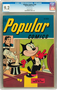 Popular Comics #140 (Dell, 1947) CGC NM- 9.2 Off-white pages