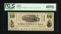 Canadian Currency: , St. Laurent, PQ- La Banque du College de St. Laurent $10 Jan. 2,1869 Schingoethe PQ-600-10. ...
