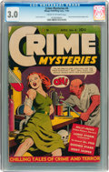 Golden Age (1938-1955):Crime, Crime Mysteries #4 (Ribage Publishing, 1952) CGC GD/VG 3.0 Cream to off-white pages....