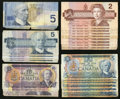 Canadian Currency: , $2's, $5's, and $10's.. ... (Total: 24 notes)