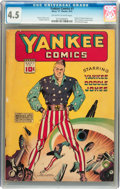 Golden Age (1938-1955):Superhero, Yankee Comics #1 (Chesler, 1941) CGC VG+ 4.5 Off-white to white pages....