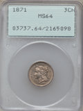 Three Cent Nickels: , 1871 3CN MS64 PCGS. PCGS Population (68/59). NGC Census: (80/47).Mintage: 603,000. Numismedia Wsl. Price for problem free ...