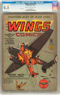 Golden Age (1938-1955):War, Wings Comics #3 (Fiction House, 1940) CGC VG+ 4.5 Cream tooff-white pages....