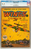 Golden Age (1938-1955):War, Wings Comics #4 (Fiction House, 1940) CGC VG+ 4.5 Cream tooff-white pages....