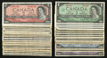Canadian Currency: , 1954 and 1967 Notes.. ... (Total: 35 notes)