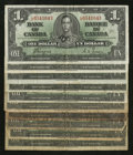 Canadian Currency: , $1 1937 Ten Examples Good or Better.. ... (Total: 10 notes)