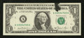 Error Notes:Ink Smears, Fr. 1911-A $1 1981 Federal Reserve Note. Very Choice CrispUncirculated.. ...