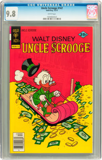 Uncle Scrooge #147 (Gold Key, 1977) CGC NM/MT 9.8 White pages