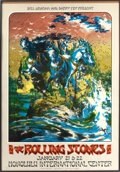 Music Memorabilia:Posters, Rolling Stones Honolulu International Center Concert Poster (BillGraham/Barry Fey, 1973)....