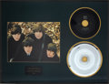 "Music Memorabilia:Recordings, Beatles ""There's A Place"" 45 and Mother Disc Display (Tollie 9001,1964)...."