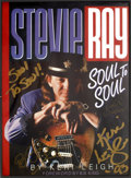 Music Memorabilia:Autographs and Signed Items, B.B. King and Keri Leigh Signed Stevie Ray: Soul to SoulPromo Poster....