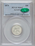 Seated Dimes: , 1874 10C Arrows MS63 PCGS. CAC. PCGS Population (45/105). NGCCensus: (33/83). Mintage: 2,940,000. Numismedia Wsl. Price fo...