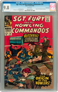 Sgt. Fury and His Howling Commandos #34 Twin Cities pedigree (Marvel, 1966) CGC NM/MT 9.8 White pages