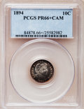 Proof Barber Dimes, 1894 10C PR66+ Cameo PCGS....