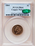 Proof Indian Cents, 1864 1C Copper-Nickel PR64 PCGS. CAC....