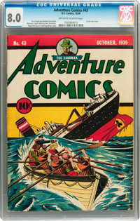 Adventure Comics #43 (DC, 1939) CGC VF 8.0 Off-white to white pages