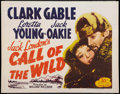 "Movie Posters:Adventure, The Call of the Wild (20th Century Fox, R-1953). Half Sheet (22"" X28""). Adventure.. ..."