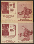 """Movie Posters:Drama, Rebel Without a Cause (Warner Brothers, 1955). Heralds (2) (Four Pages, 8"""" X 10.5"""") and Bio Pages (2) (8"""" X 10""""). Drama.. ... (Total: 4 Items)"""