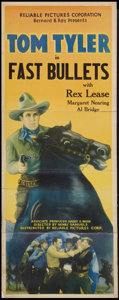 "Movie Posters:Western, Fast Bullets (Reliable, 1936). Insert (14"" X 36""). Western.. ..."