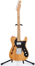 Musical Instruments:Electric Guitars, 1970's Electra Thinline Tele Natural Solid Body Electric Guitar...