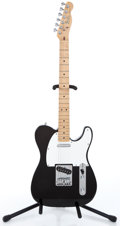 Musical Instruments:Electric Guitars, 1983 Fender Telecaster Black Solid Body Electric Guitar #E311146...