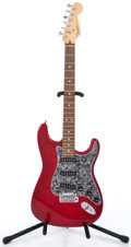Musical Instruments:Electric Guitars, 1996 Fender Stratocaster Metallic Red Trans Solid Body ElectricGuitar #N6135821...