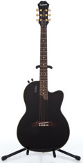 Musical Instruments:Acoustic Guitars, Recent Epiphone Chet Atkins Black Acoustic Electric Guitar #S01036321...