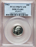 Proof Roosevelt Dimes, 1963 10C Doubled Die Reverse PR67 Cameo PCGS. FS-801 (FS-017). PCGSPopulation (2/0). (#85224). From...