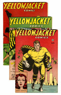 Golden Age (1938-1955):Superhero, Yellowjacket Comics #2, 8, and 9 Group (Charlton, 1944-46) Condition: Qualified.... (Total: 3 Comic Books)