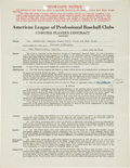 Autographs:Others, 1940 Joe DiMaggio Signed Uniform Player's Contract....