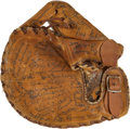 Autographs:Others, 1940's Baseball Stars Multi-Signed Glove with Babe Ruth, JoeDiMaggio....