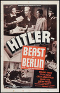 "Movie Posters:War, Hitler - Beast of Berlin (Producers Distributing Corp., 1939). OneSheet (26.5"" X 40.75""). War.. ..."