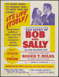 "The Story of Bob and Sally (Hallmark, 1948). Poster (30"" X 40""). Exploitation"