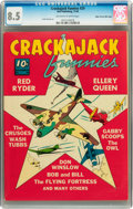 Golden Age (1938-1955):Miscellaneous, Crackajack Funnies #29 Mile High pedigree (Dell, 1940) CGC VF+ 8.5 Off-white to white pages....