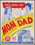"""Movie Posters:Sexploitation, Mom and Dad (Hygienic Productions, R-1947). Poster (30.25"""" X 40"""").Sexploitation.. ..."""