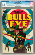 Golden Age (1938-1955):Western, Bulls-Eye #1 Mile High pedigree (Mainline Publications, 1954) CGCVF- 7.5 White pages....