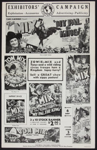 "My Pal, the King (Universal, 1932). Uncut Pressbook (Six Pages, 11.5"" X 18""). Western"