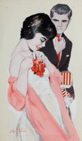 Mainstream Illustration, HERBERT TAUSS (American, 1929-2001). The Corsage. Oil onpaper. 14 x 8 in.. Signed lower left. From the Estate ofCh...