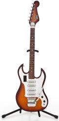 Musical Instruments:Electric Guitars, 1960's Teisco Crown Professional Sunburst Solid Body ElectricGuitar ...