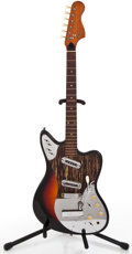 Musical Instruments:Electric Guitars, 1960's Framus Two Pickup Sunburst Solid Body Electric Guitar#2673-66A...